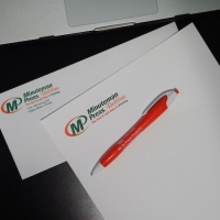 calgary business stationary with letterhead envelope pen