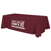 calgary promotional table cloths burgundy