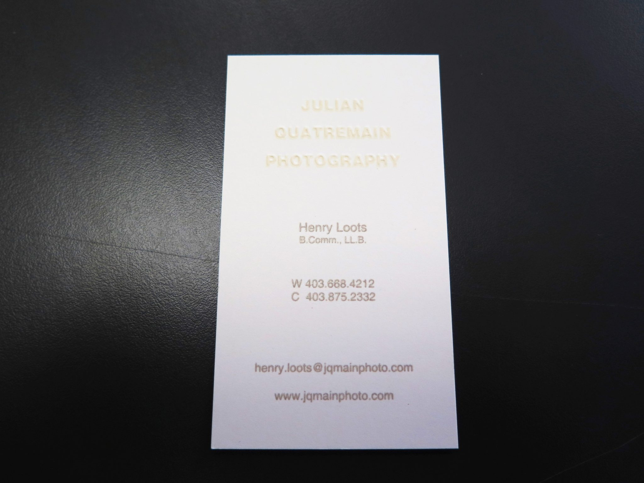 Embossed Business Cards in Calgary - Minuteman Press Beltline