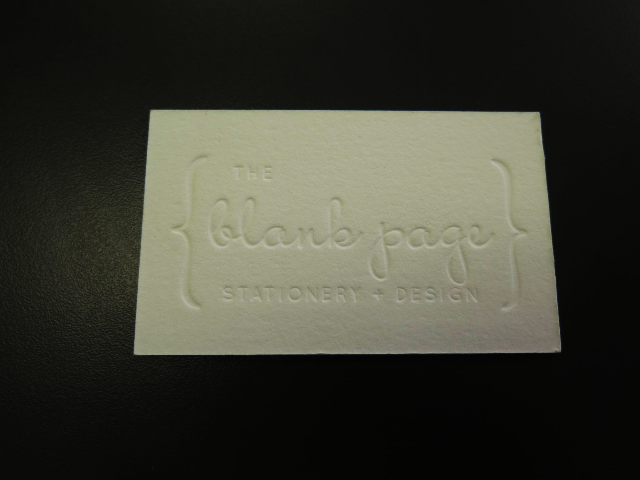 Letterpress Business Cards - Minuteman Press