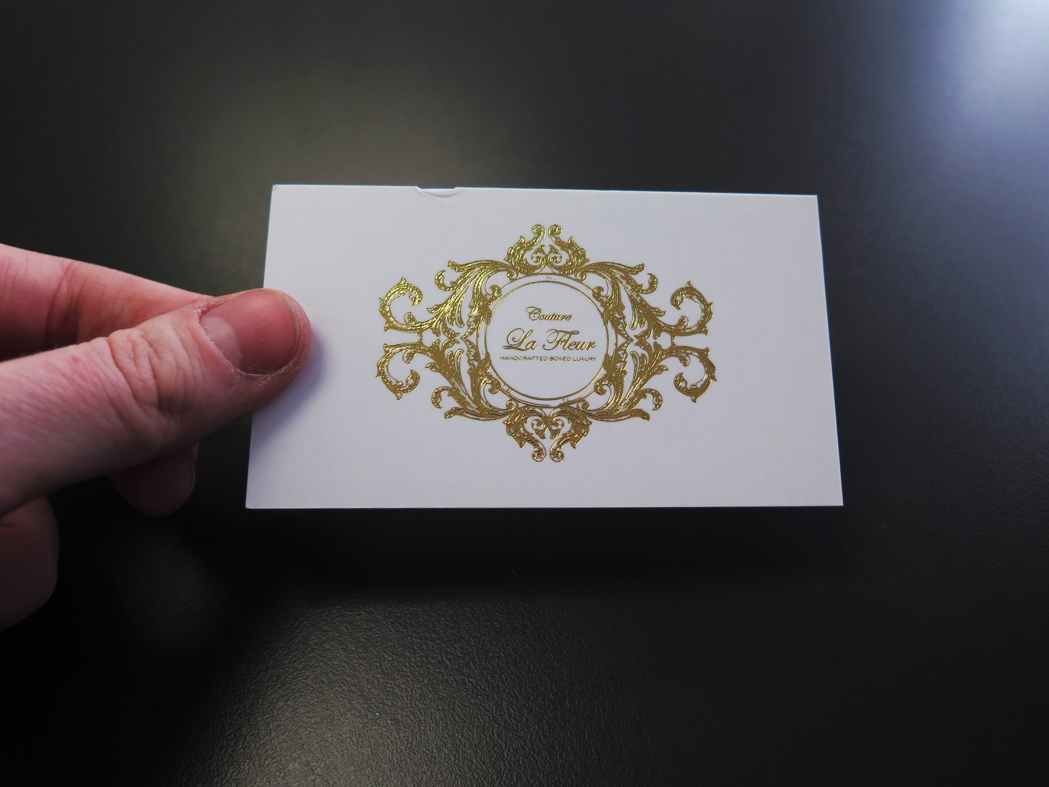 Foil Business Cards at Minuteman Press Beltline in Downtown Calgary