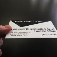 Raised Printing Business Card