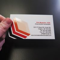 Spot UV Business Card