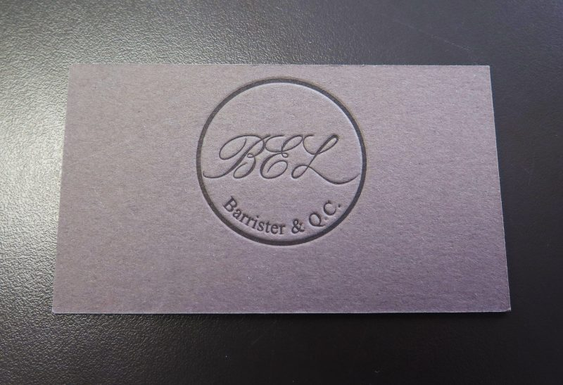 Debossed or Embossed Custom Business Cards Calgary