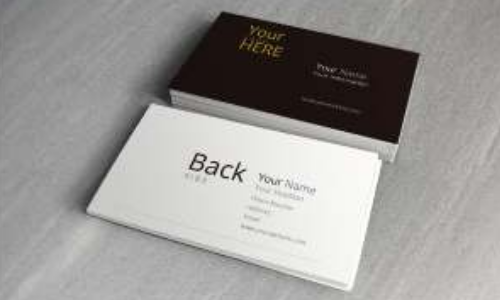 Display Double Sided Business Cards Custom Minuteman Press