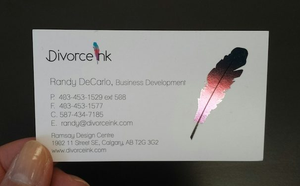 Foiled Custom Business Cards Calgary