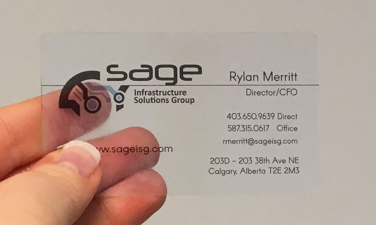 Clear Plastic Business Cards - Business Cards Calgary