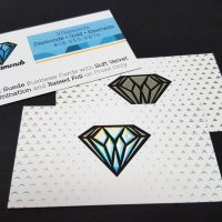 16pt Suede Business Card with Soft Velvet Lamination and Raised Foil on Front Only