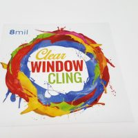 8mil Clear Window Cling