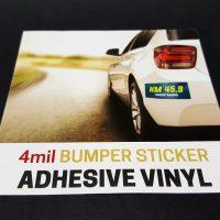 4mil Adhesive Vinyl Bumper Sticker