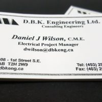 Raised Printing Business Cards