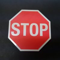 CnC Routed Stop Sign