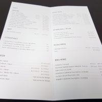 Wine Menu List