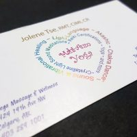 Multi-Colour Foil Business Cards