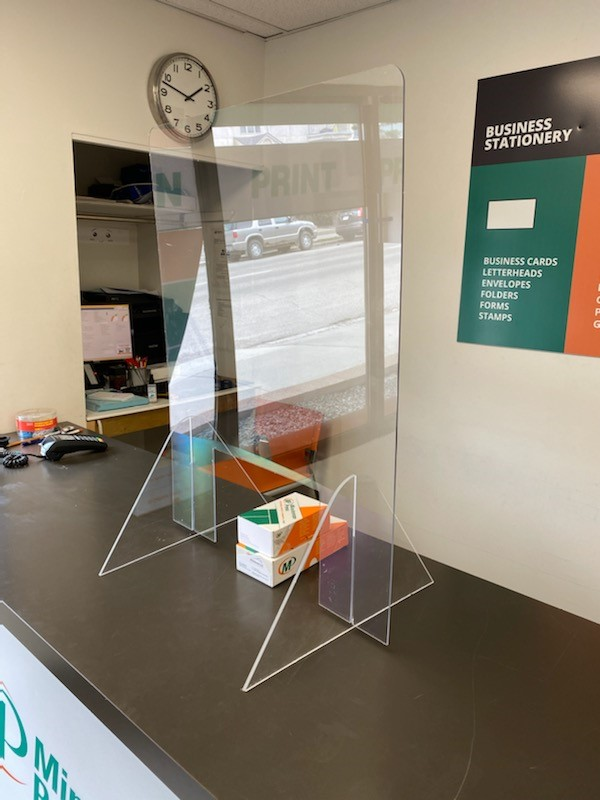 Sneeze Guards & Face Shields at Minuteman Press